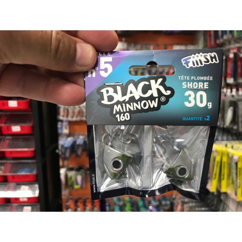 Black Minnow 160 - 2 shore jig head - 30g - kaki BM019