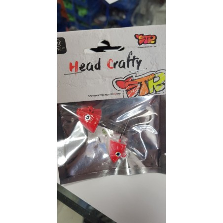 HEAD SHAKY 14 GR-ANZ 3/0 COLOR WHITE RED HEAD
