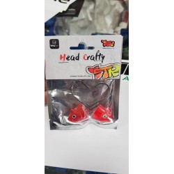 HEAD SHAKY 28 GR-ANZ 5/0 COLOR WHITE RED HEAD