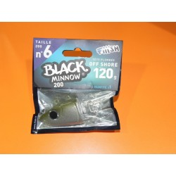 Black Minnow 200 mm 1 off shore jig 120 gr kaki BM040