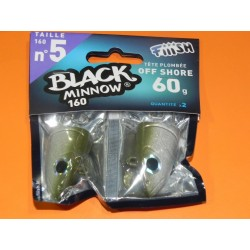 Black Minnow 160 mm 2 off shore jig 60 gr kaki BM015