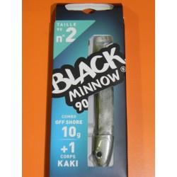 Black Minnow 90 Combo Shore Jig 10 gr kaki  BM187