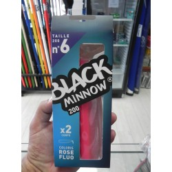Black Minnow 200 mm 2 lures rose/fluo  BM361