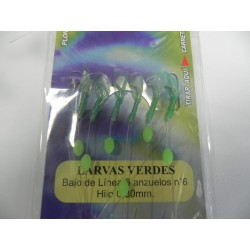 MINI FLASHING LARVAS VERDES Nº6